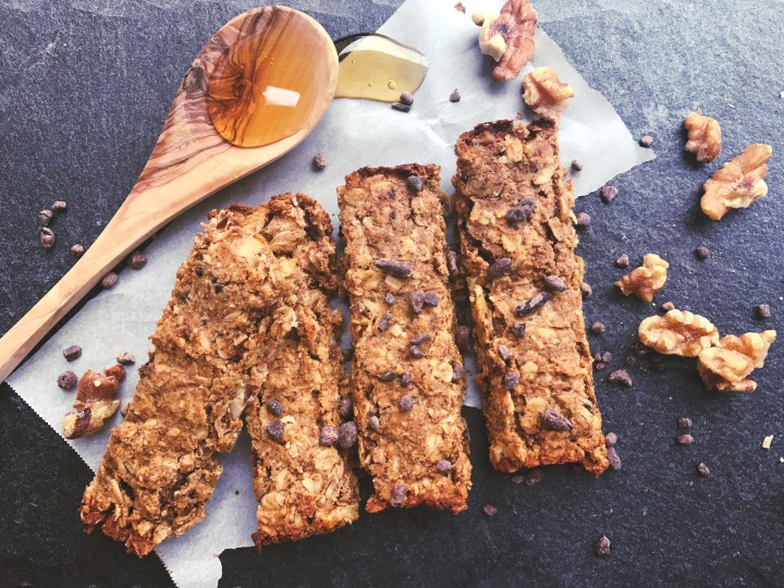 Peanut Butter Baked Energy Bars