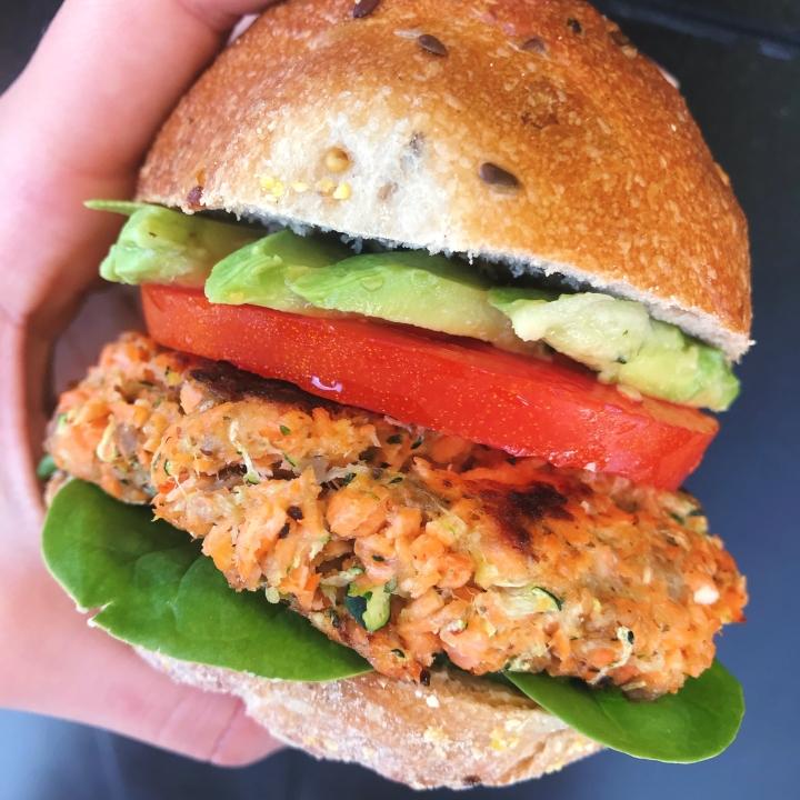 Salmon Zucchini Burgers